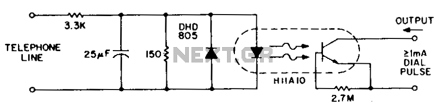 Dial-pulse-indicator - schematic