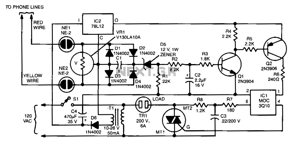 Remote-telephone-ringer - schematic