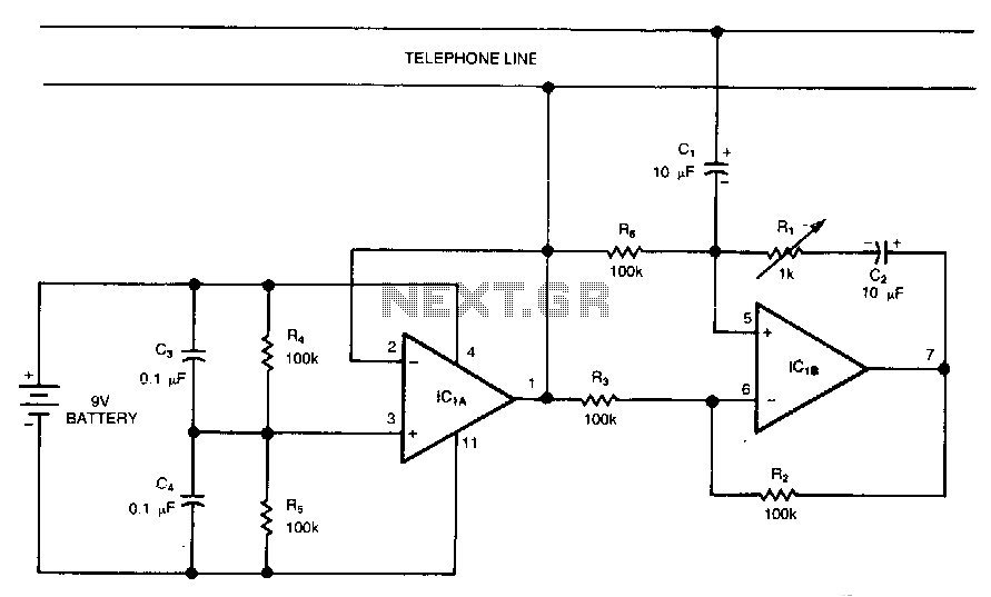 duplex-line-amplifier under phone circuits