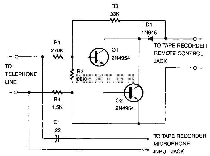 Phone-recorder - schematic