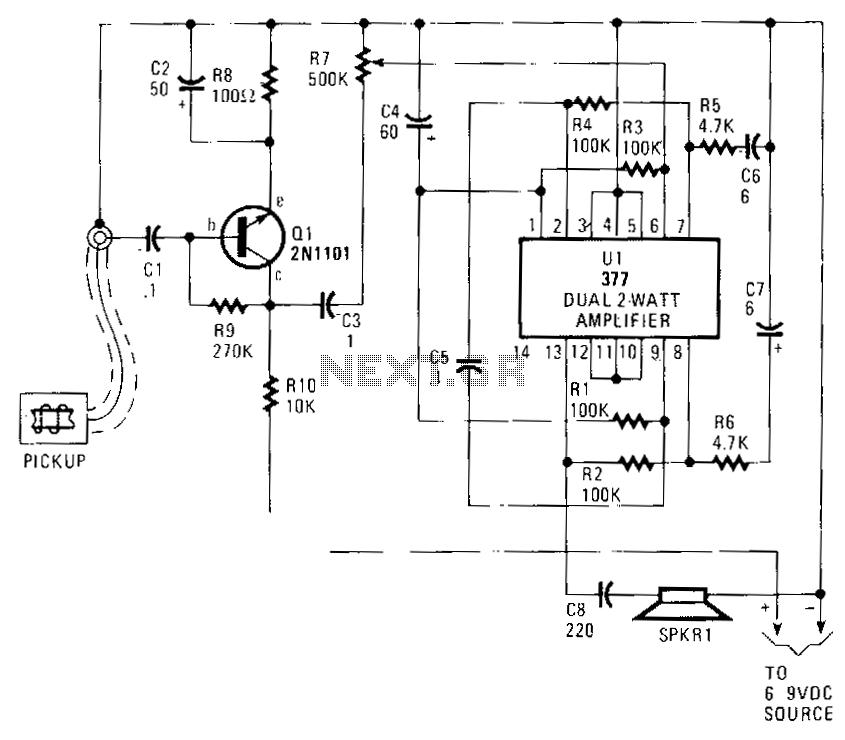 Telephone-amplifier - schematic