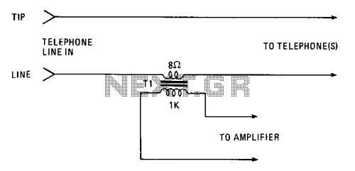 Telephone-tap - schematic