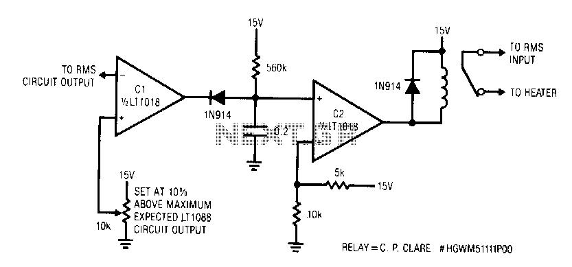 Servo-sensed-heater-protector - schematic