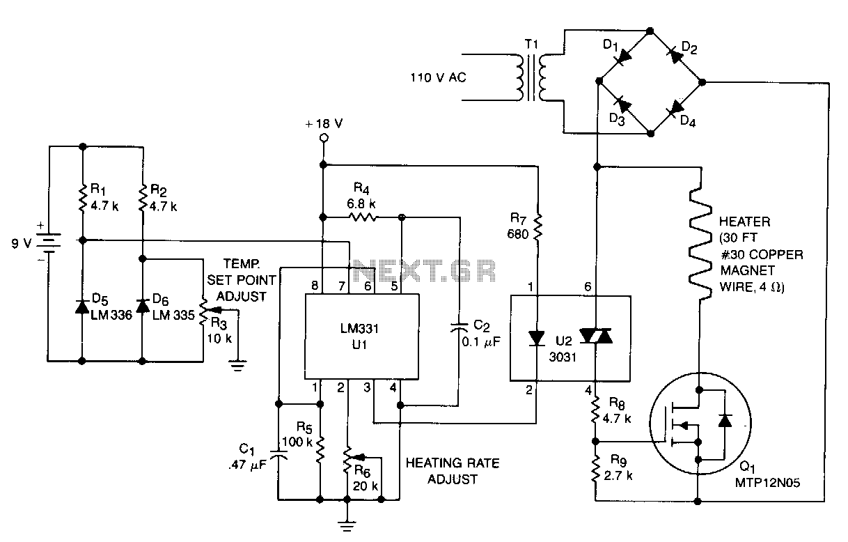 thermometer circuit page 7 meter counter circuits nextgr