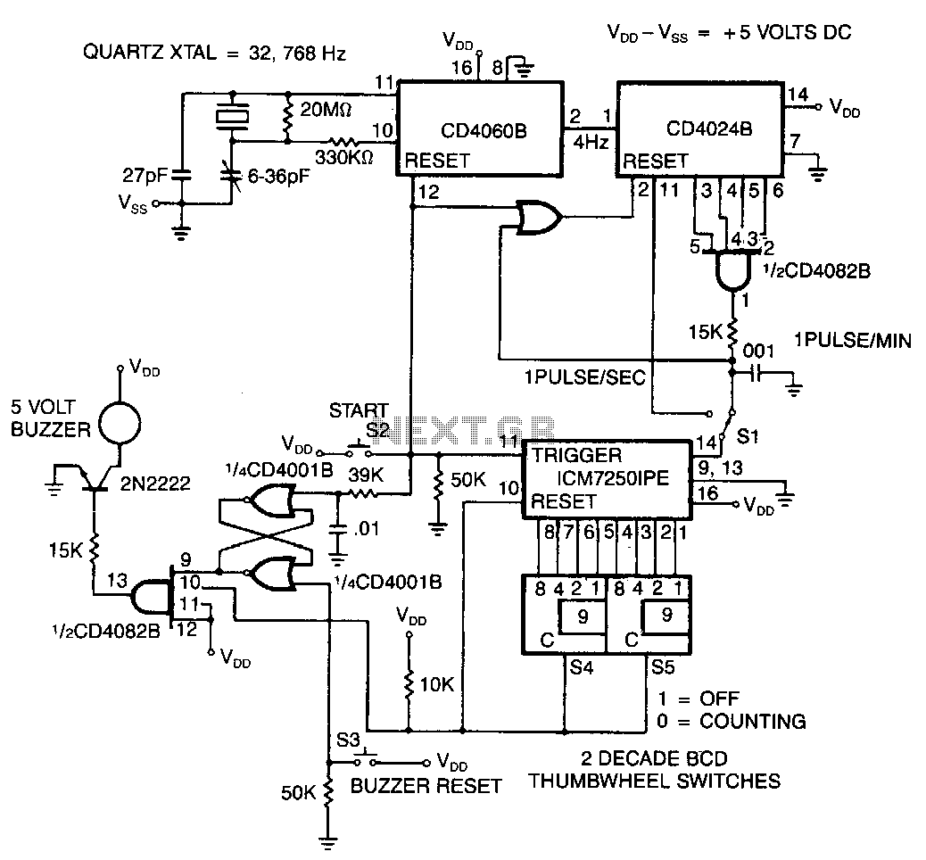 Timer Circuit Page 2 Meter Counter Circuits 0 99 Diagram Cmos Precision Programmable Laboratory