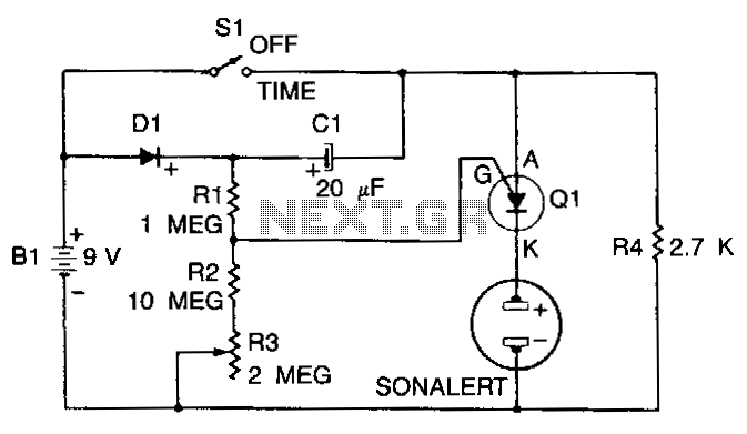 Three-minute-timer - schematic