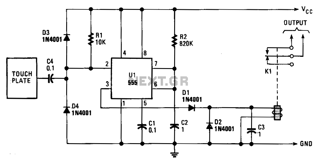Line-hum-touch-switch - schematic