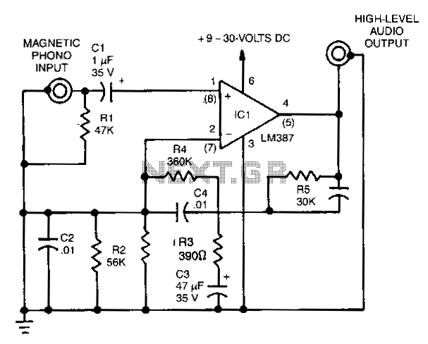 Magnetic-phono-preamplifier - schematic