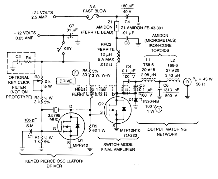 80M-amateur-radio-transmitter - schematic