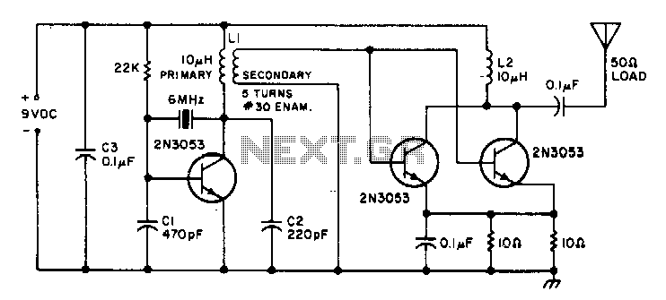 1W-cwtransmitter - schematic