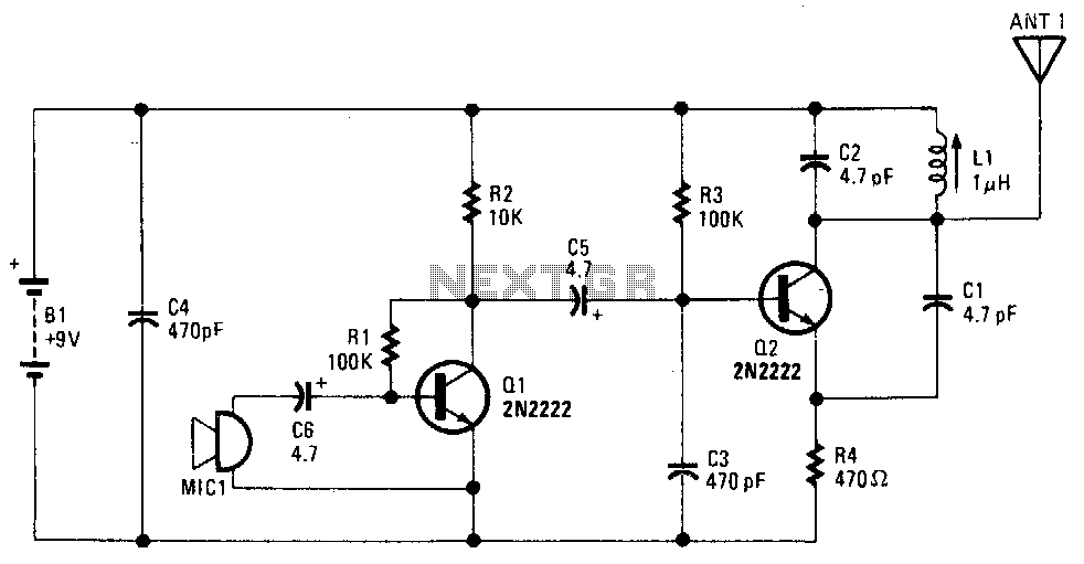 Wireless-fm-microphone - schematic