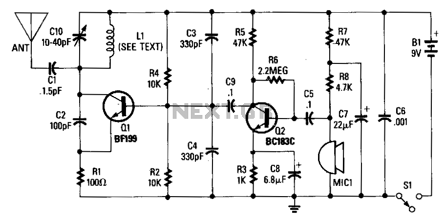 wireless-fm-microphone under fm transmitter circuits