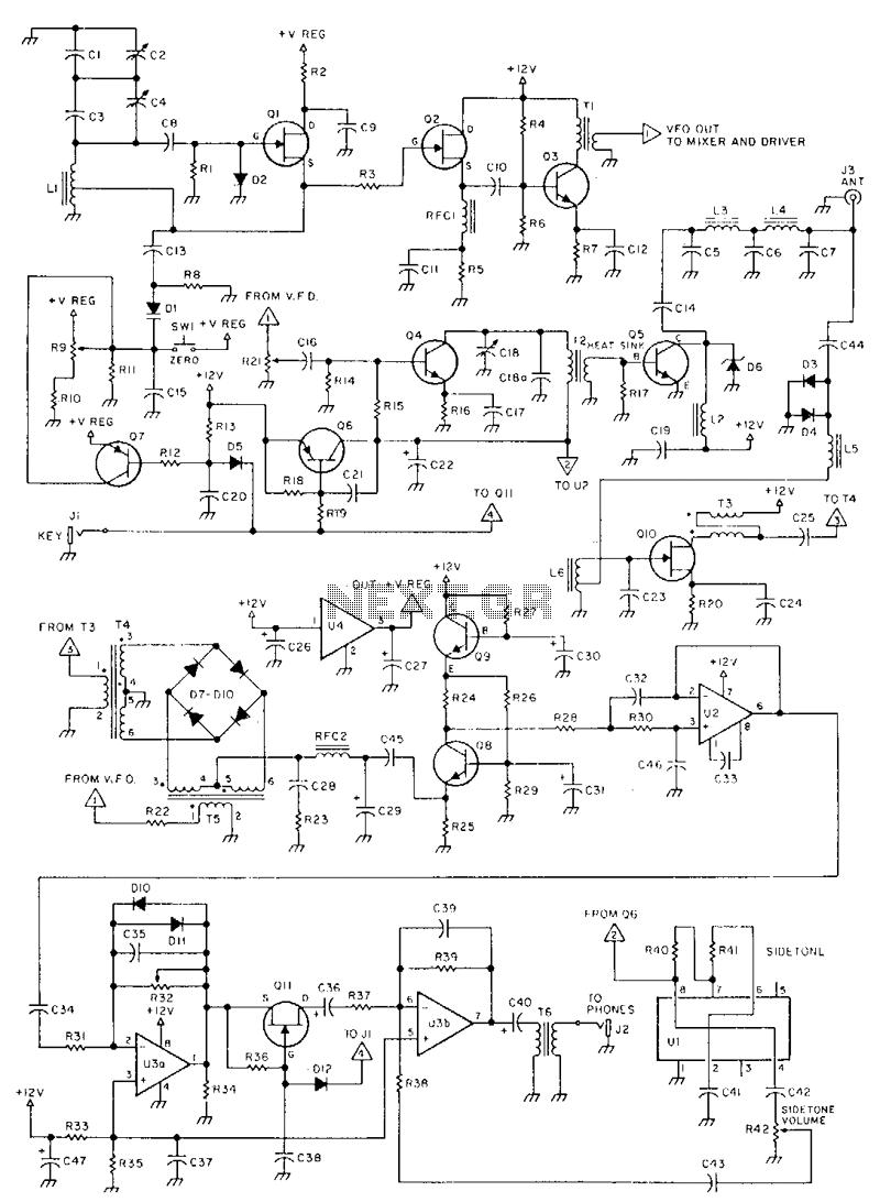 Qrp-cw-transceiver - schematic