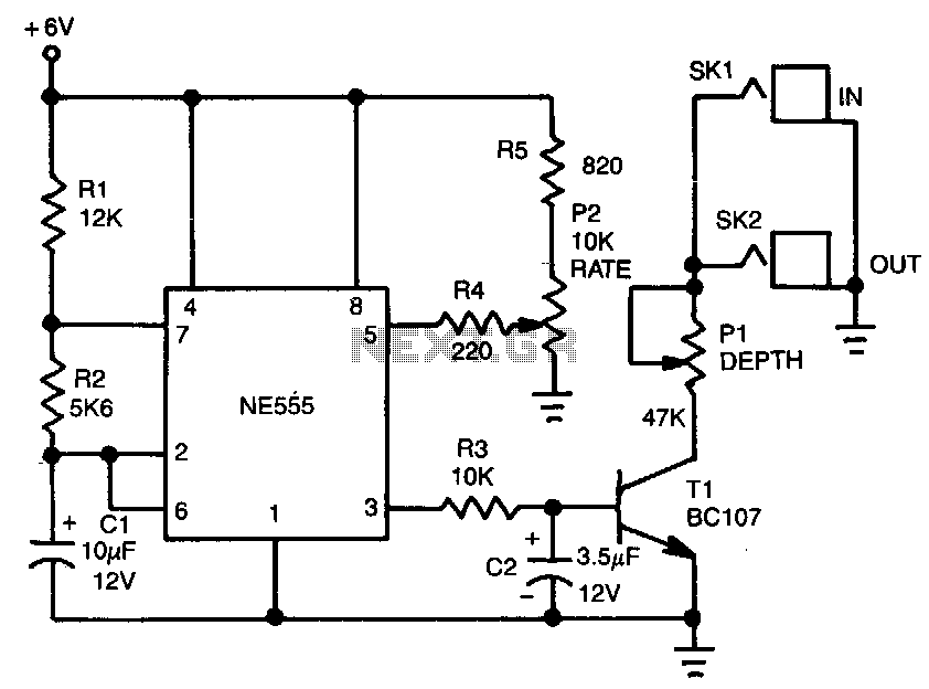 Electronic-tremolo - schematic