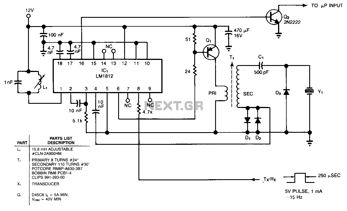 this circuit uses an sad 512d reticon chip which is a