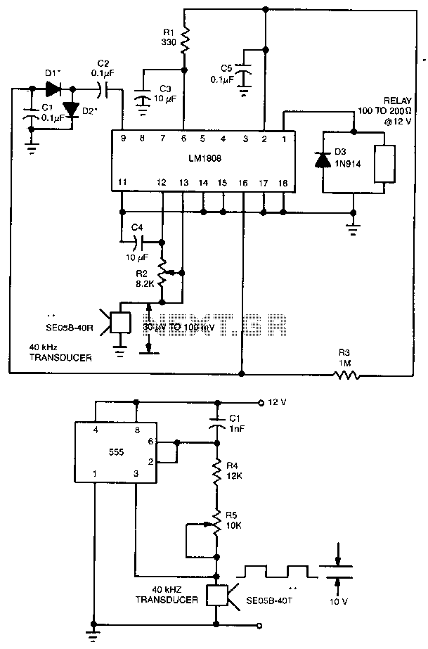 Ultrasonic-transceiver - schematic