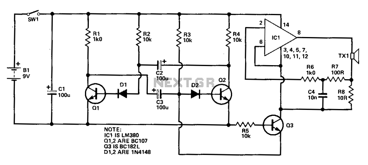 Ultrasonic-pest-controller - schematic