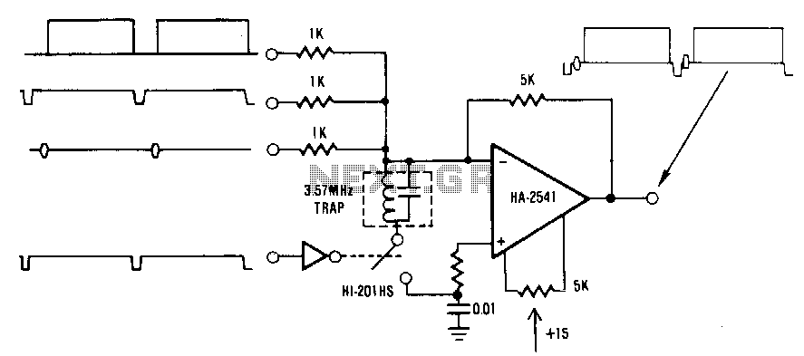 Summing-amplifier-clamping-circuit