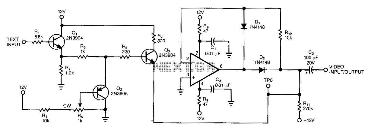 Composite-video-signal-text-adder - schematic