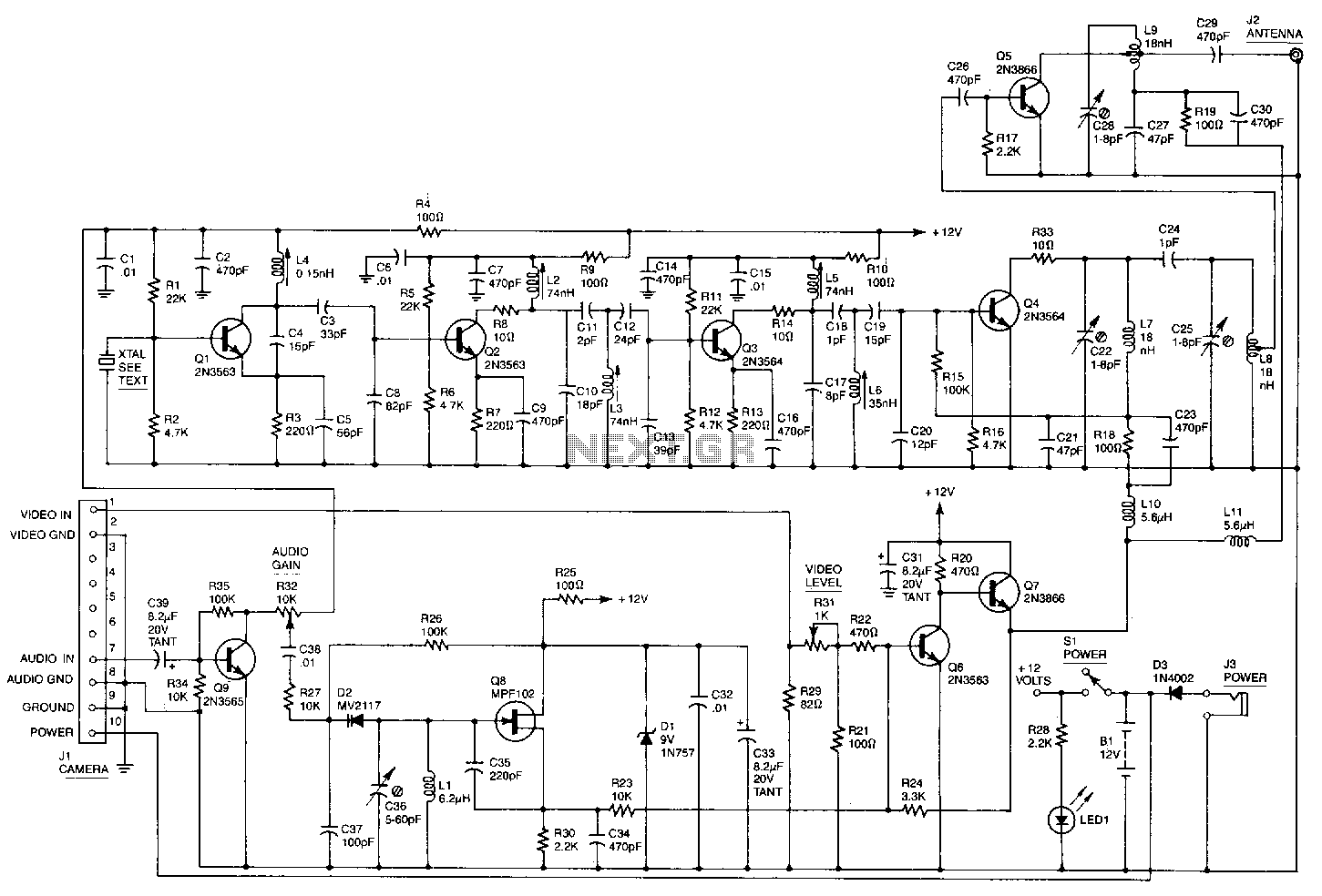 Video Circuit Page 2 Battery Charger 21 Power Supply Circuits Nextgr Wireless Camera Link