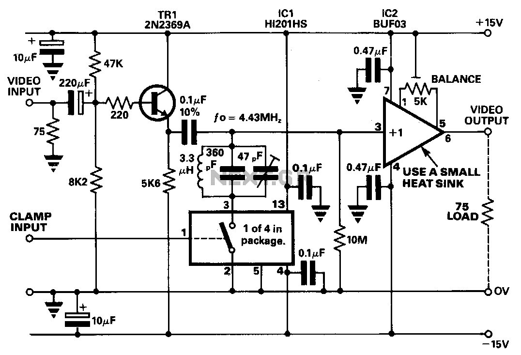 Video-dc-restorer - schematic