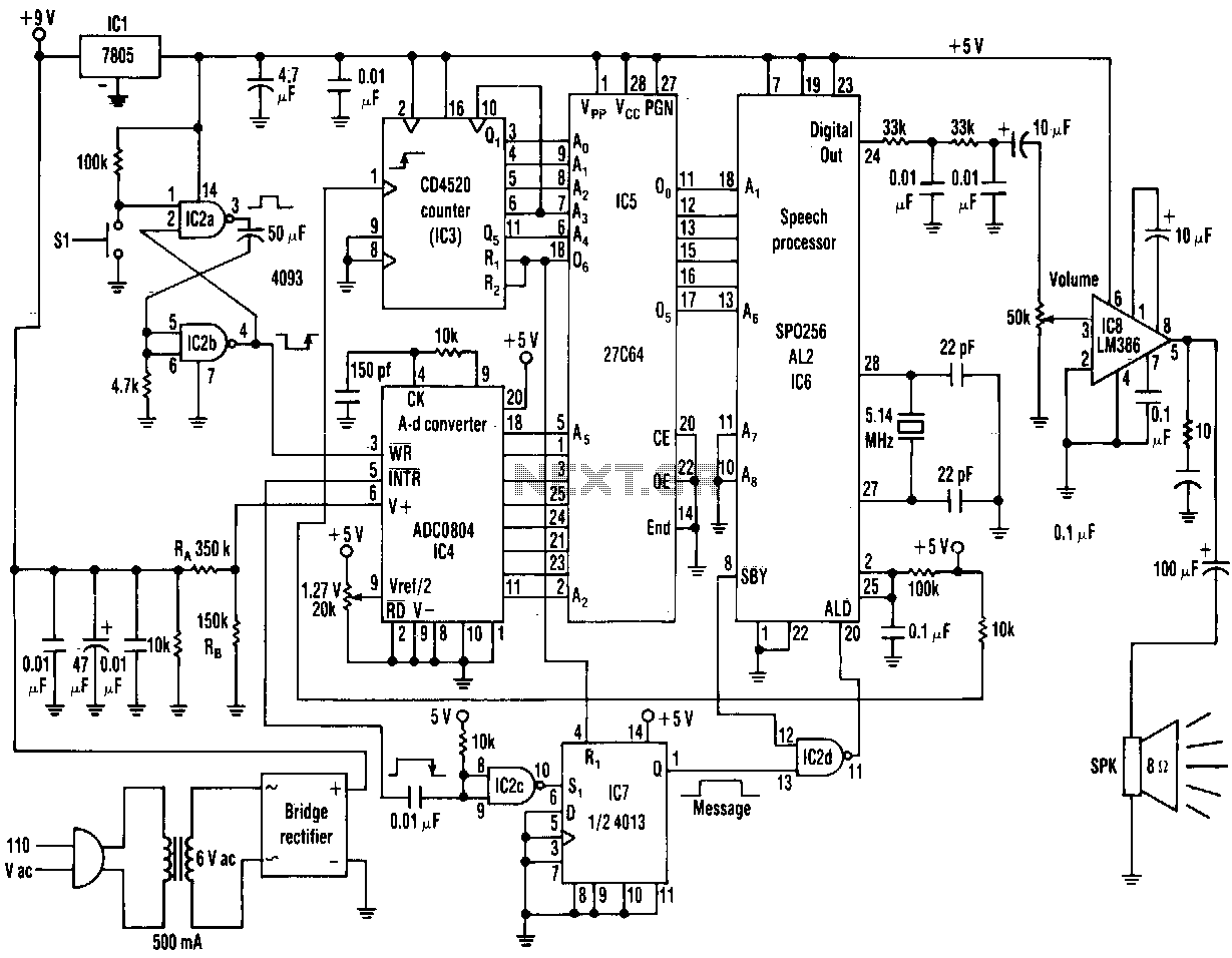 Sensor Detector Circuit Page 5 Ultrasonic 2 Audio Circuits Nextgr Ac Line Voltage Announcer