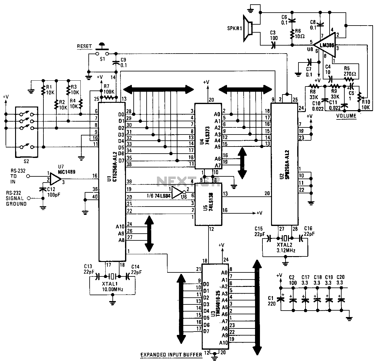 Popular Circuits Page 77 Lm339 Time Delay Generator Circuit Diagram And Datasheet Computer Speech Synthesizer
