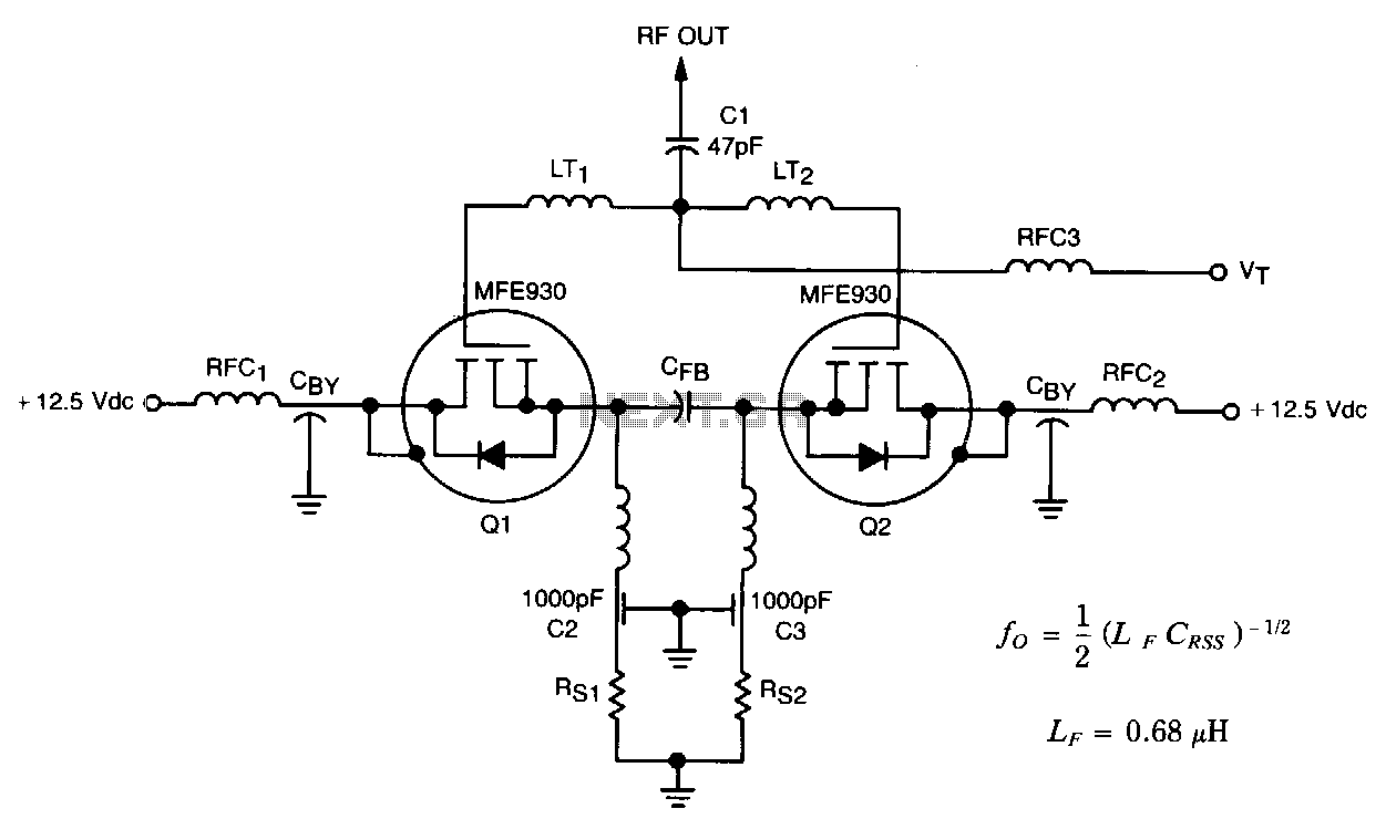 Balanced-tmos-vco - schematic