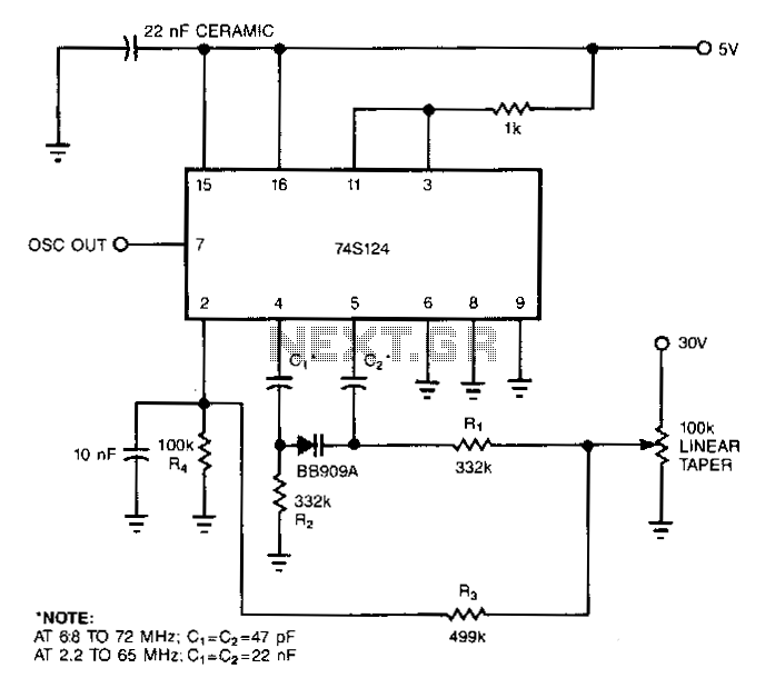 Variable-capacitance-diode-sparked-vco