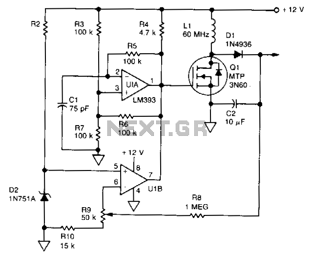 High-efficiency-flyback-voltage-converter - schematic