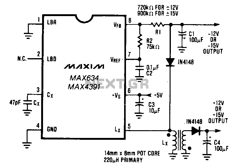 Dual-output-dc-dc-converter - schematic
