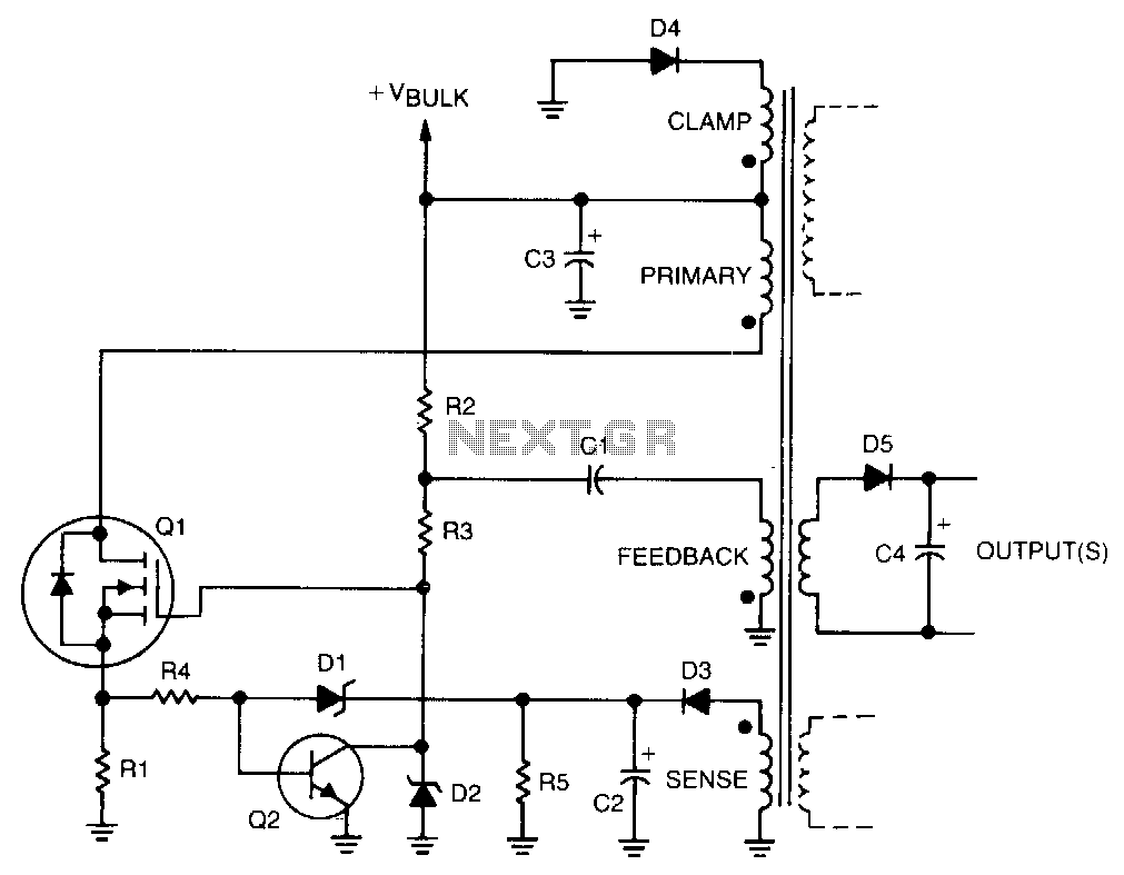Power Supply Circuit Page 6 Circuits Gt Arduino Online Thermometer L21865 Nextgr Self Oscillating Switching Converter