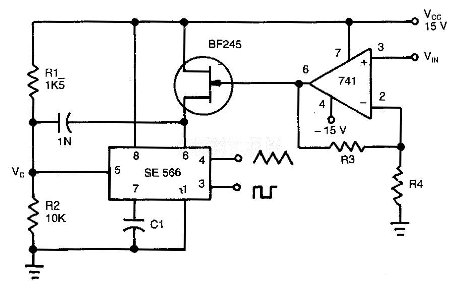 Wide-range-voltage-to-frequency-converter