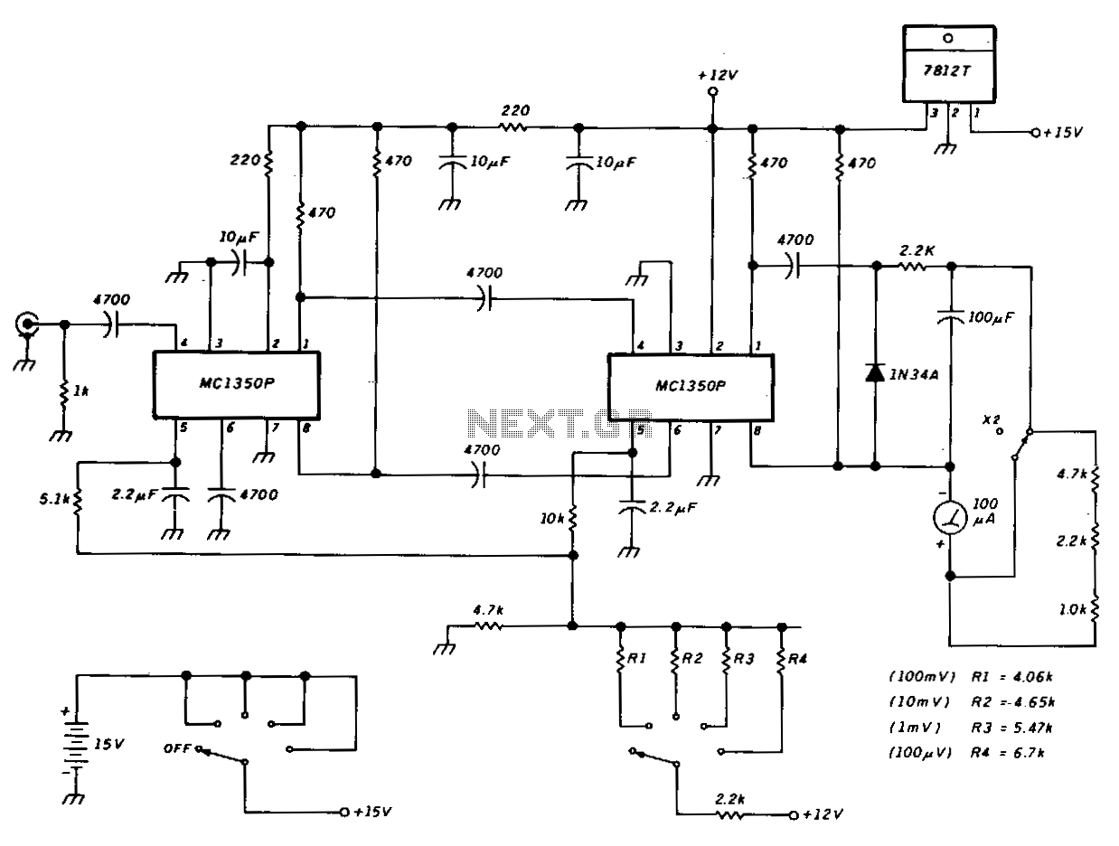 Sensitive-rf-voltmeter - schematic