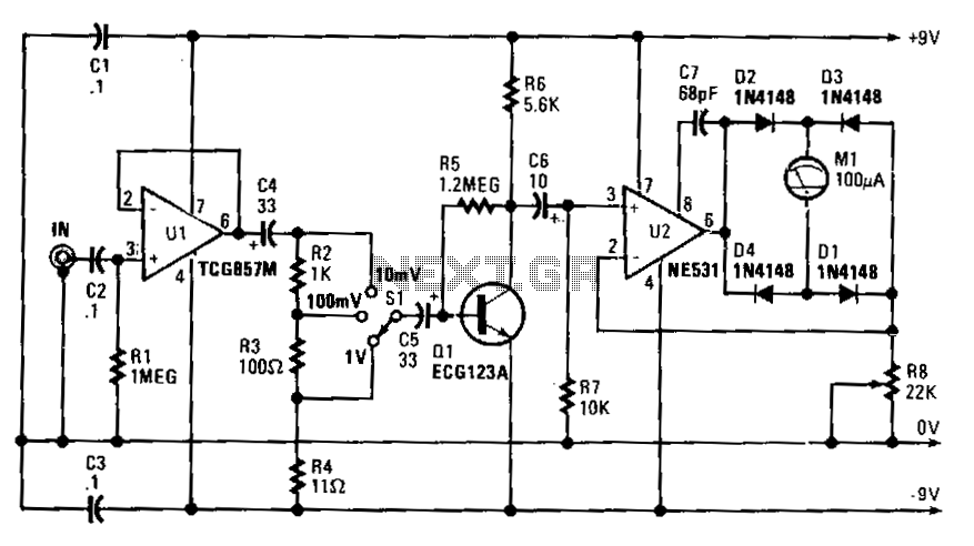 Audio-millivoltmeter - schematic