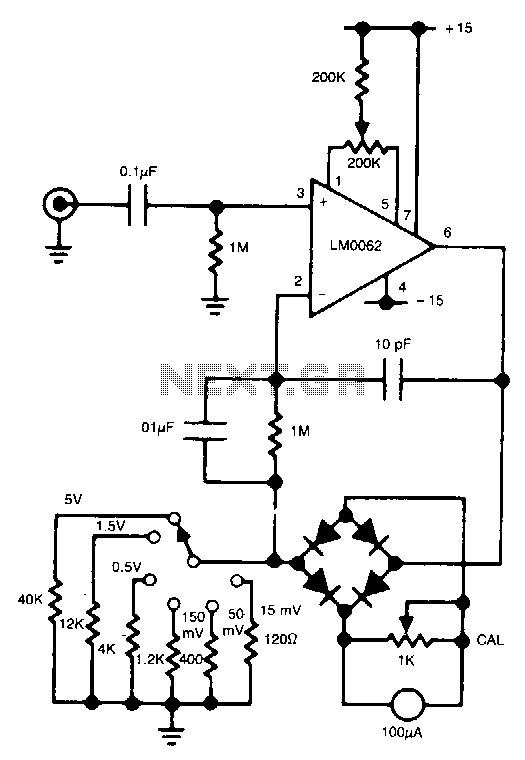 digital ac voltmeter circuit diagram the wiring diagram voltmeter circuit meter counter circuits next gr circuit diagram