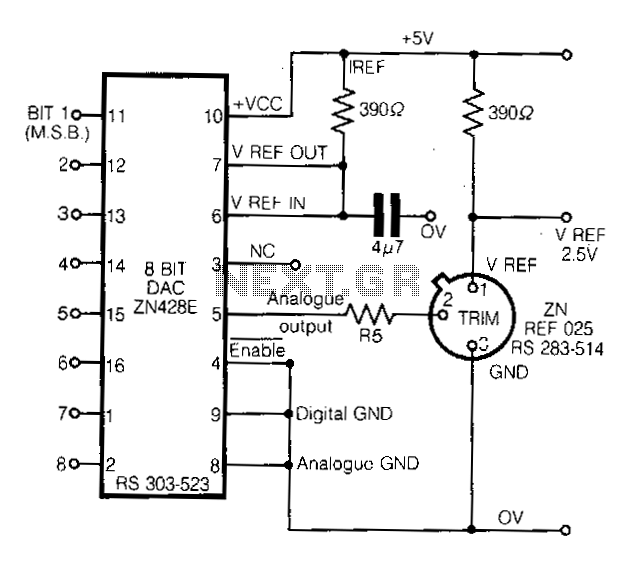 Digitally-controlled-voltage-reference - schematic