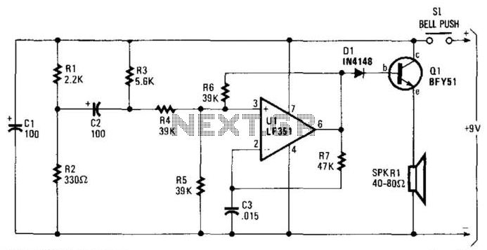 Electronic Door Buzzer - schematic