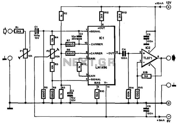 Audio-Frequency Doubler - schematic