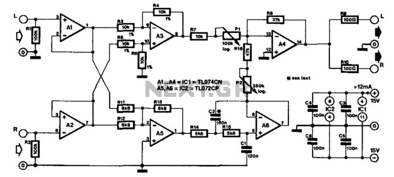 Vocal Eliminator - schematic