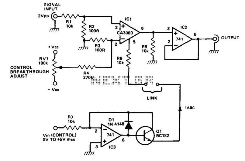 Voltage-Controlled Amplifier - schematic