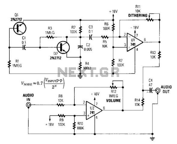 Audio Ditherizing Circuit For Digital Audio Use - schematic