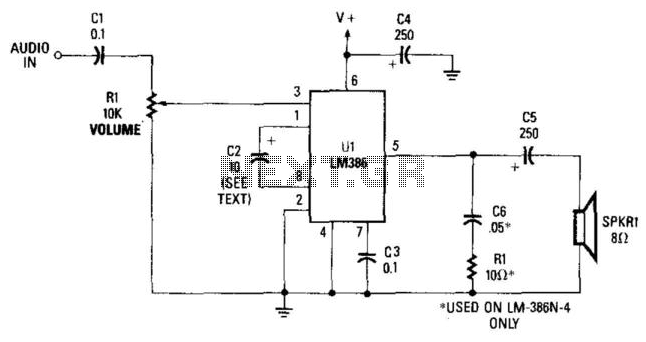 Receiver Audio Circuit - schematic