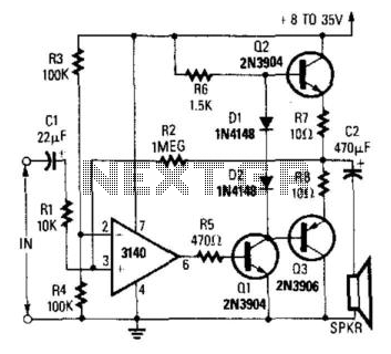 Simple Op Amp Audio Amplifier