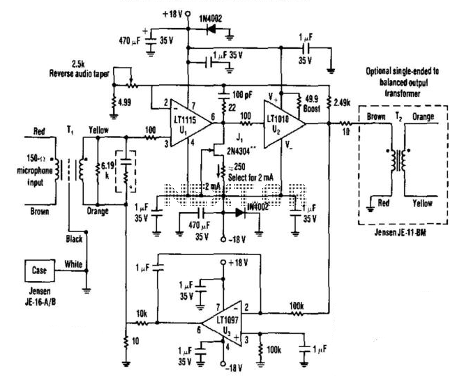 Low-Noise Audio Preamp - schematic
