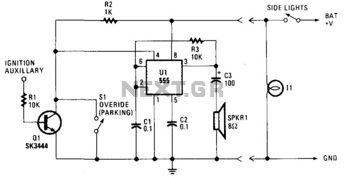 Lights-On Warning - schematic