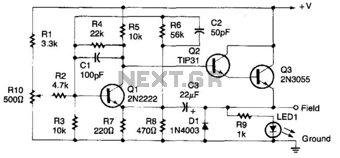 alternator voltage regulator circuit diagram alternator automotive u003e automotive circuits u003e voltage regulator for cars and on alternator voltage regulator circuit diagram
