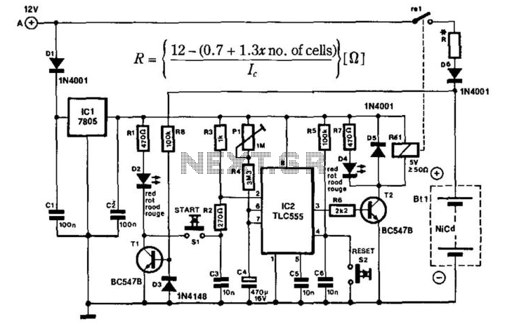 Portable Nicad Charger - schematic