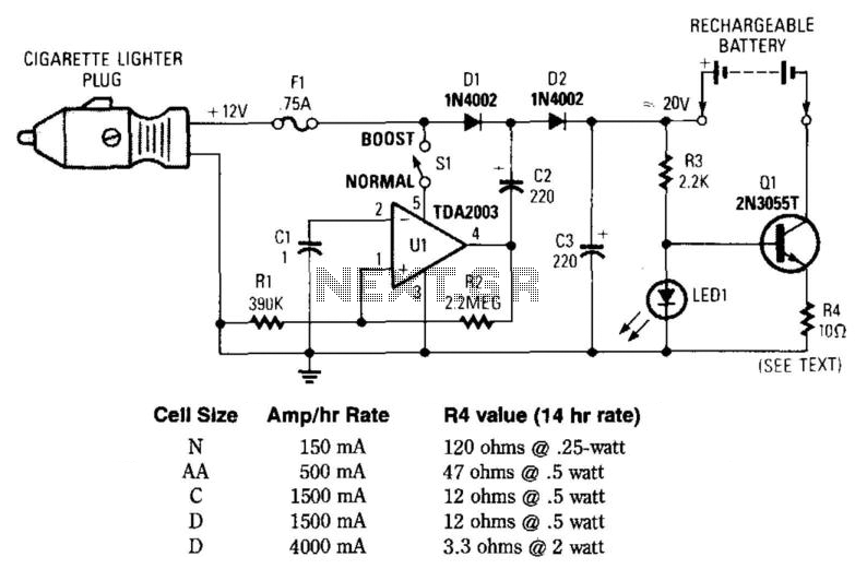 12Vdc Mobile Battery Charger - schematic