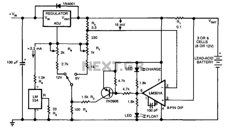 Charger Extends Lead-Acid Battery Life - schematic